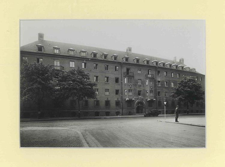 Luise-Kiesselbach-Haus am ersten Standort, in der Einsteinstraße in München, Aufnahme von 19xx