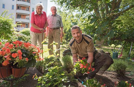 Gartengestaltung im KWA Stift im Hohenzollernpark