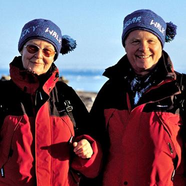 Ulrike und Ansgar Walk am Inusuk Point 2002