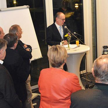 Neujahrsempfang in der KWA Hauptverwaltung in Unterhaching, KWA Vorstand Dr. Stefan Arend begrüßte die Gäste