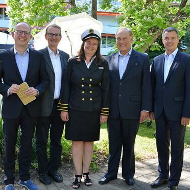 50 Jahre KWA - Feier mit Dr. Stefan Arend, Prof. Dr. Ekkehart Meroth, Anja Schilling, Prof. Dr. Manfred Matusza und Volker Kieber