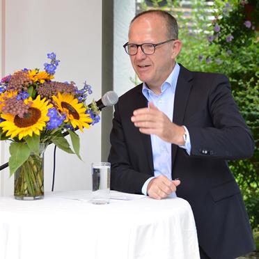 Dr. Stefan Arend, KWA Vorstand bei seinem Grußwort