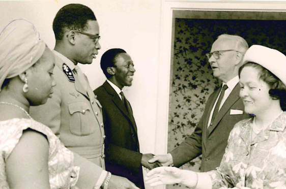 Treffen mit Präsident Mobuto, Kongo 1964 - 65