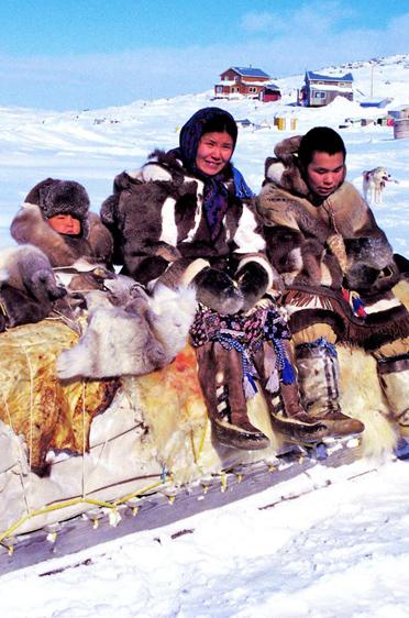 Traditioneller Inuit-Hundeschlitten 1999