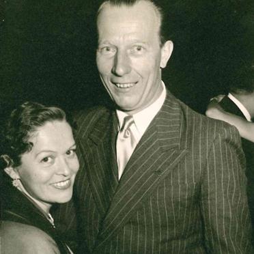 Eleonore Middelmann mit Baron von Henneth, Österreich 1955