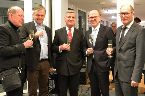 Von li.: Prof. Dr. Roland Schmidt, Prof. Dr. Thomas Klie, Wolf-Dieter Krause, Dr. Stefan Arend, Horst Schmieder