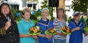 Vier Mitarbeiterinnen wurden für ihre langjährige Mitarbeit ausgezeichnet. 50 Jahre KWA - Jubiläumsfeier im KWA Parkstift St. Ulrich
