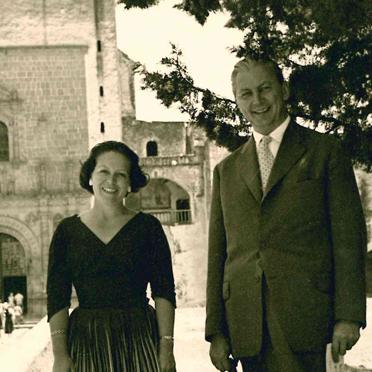 La Senora con el Ministro