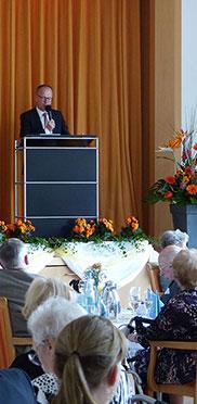 Ansprache des KWA Vorstands Dr. Stefan Arend im KWA Stift im Hohenzollernpark anlässlich der 50-Jahre-KWA-Feier