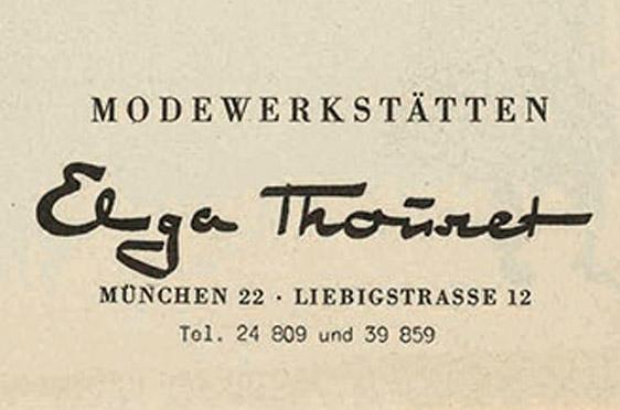 Rollermoden von Elga Thouret: die Außenseite eines Werbeflyers