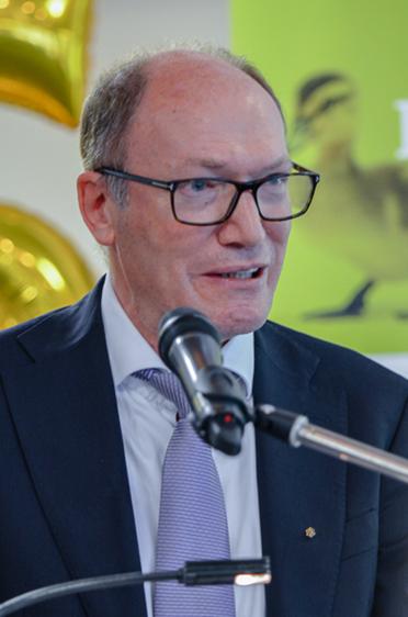 KWA Vorstand Horst Schmieder verwies in seiner Rede auf die exzellenten Belegungszahlen im KWA Stift am Parksee.
