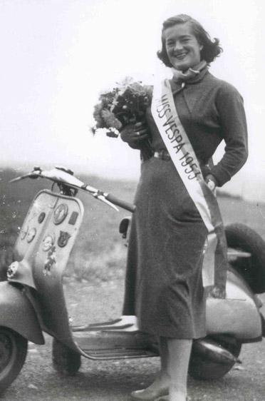 Deutschlands erste Miss Vespa, im Jahr 1953: Elga Thouret