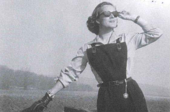 Elga Thouret im Jahr 1953, als Werbemodel