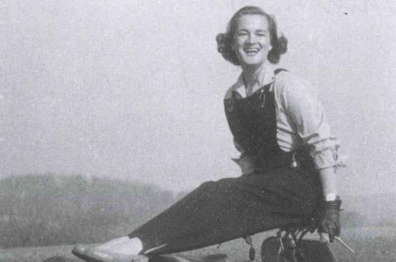 Elga Thouret im Jahr 1953: als Model