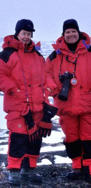 Ansgar und Ulrike Walk in einem ehemaligen Tundra-Camp