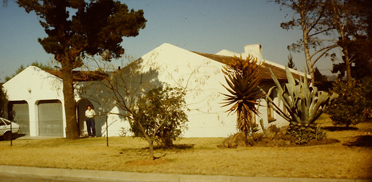 Argave und Aloe Vera vor dem Haus der Schultes in Südafrika