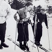Heidi Biebl im Jahr 1955.