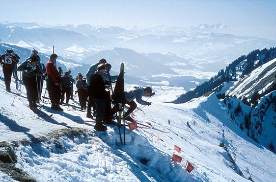 Nun rast sie los: 1959 am Hochgrat, vor fantastischer Bergkulisse