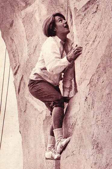 Heidi Biebl war privat in einigen Sportarten unterwegs - hier beim Klettern.