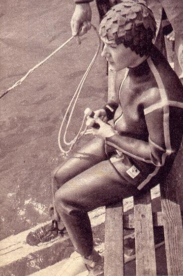 Auch Wasserski fuhr Heidi Biebl außerordentlich gerne.