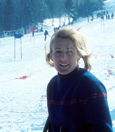 Heidi Biebl bei der Deutschen Meisterschaft 1964.