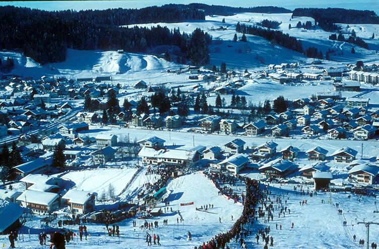 FIS-A-Rennen 1965 am Staufenhang.