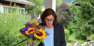 Stiftsdirektorin Lisa Brandl-Thür bei der Feier im Rupertihof zum 50sten Geburtstag von KWA Kuratorium Wohnen im Alter