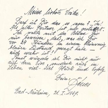 Brief eines befreundeten Bewunderer