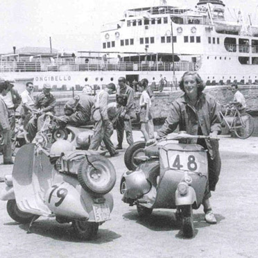Elga Thouret 1953 bei der Drei-Meeres-Fahrt in Italien