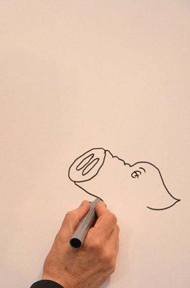 Das Schwein (und das Huhn) ist eines der bekanntesten Motive von Peter Gaymann