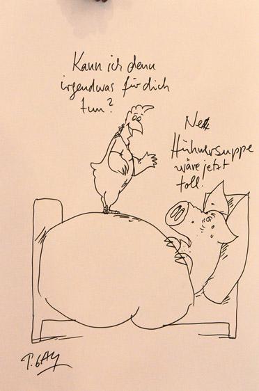 Der Jahresauftakt-Cartoon für KWA von Peter Gaymann