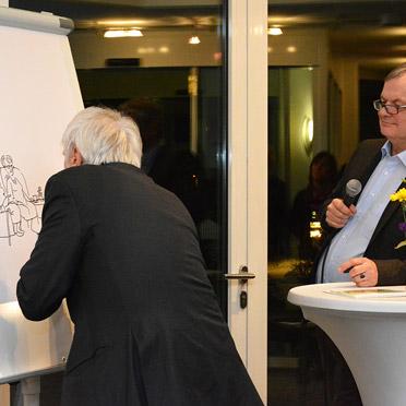 """Cartoonist Peter Gaymann im """"Live-Einsatz"""""""