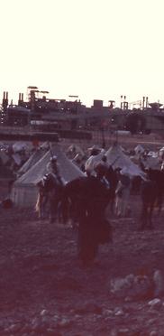 Einweihung des deutsch-französischen Projekts mit dem damaligem König von Marokko und den Beduinen (1965)