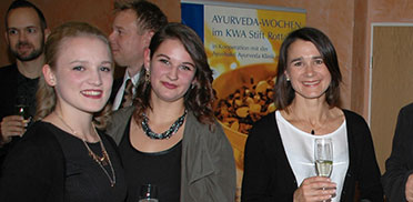 Ein kleines Get-Together vor Beginn der 50-Jahre-KWA-Feier