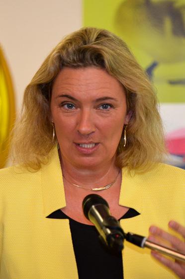 Kerstin Schreyer, Staatsministerin für Familie, Arbeit und Soziales, hielt den Festvortrag zum 35-jährigen Jubiläum des KWA Stifts am Parksee in Unterhaching.