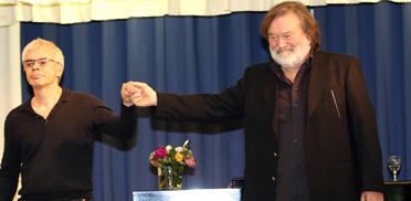 Hans Georg Wilhelm und Berth Wesselmann (re.) vom Theater in Baden-Baden