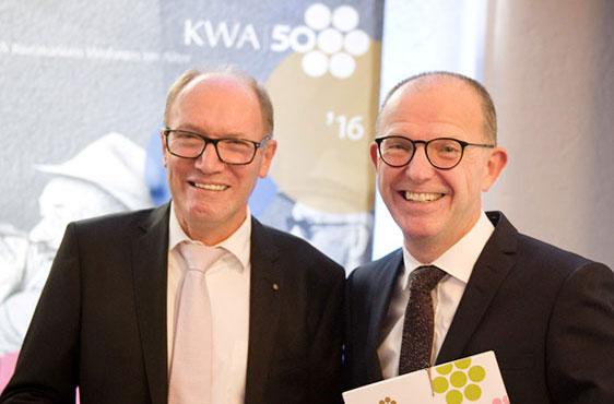 Die beiden KWA Vorstände: Horst Schmieder (links) und Dr. Stefan Arend.