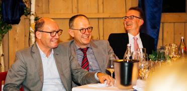 KWA Vorstand Horst Schmieder, KWA Vorstand Dr. Stefan Arend, Prof. Dr. Ekkehart Meroth, stellvertretender KWA Aufsichtsratsvorsitzender