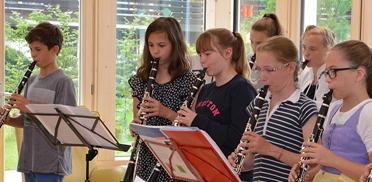 Konzert der Klarinettenklasse der Musikschule Tegernseer Tal im Rupertihof zum 50sten Geburtstag von KWA Kuratorium Wohnen im Alter