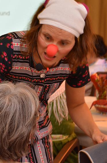 Ulla Eichner sorgte für Lacher im Publikum, 45 Jahre KWA Stift Rupertihof