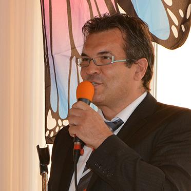 Stiftsdirektor Andreas Lorz, bei seiner Ansprache im KWA Parkstift Aeskulap zur Feier des 35-jährigen Bestehens