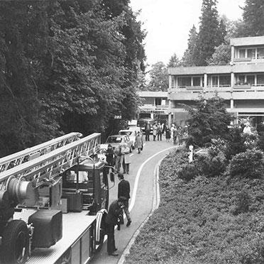 Feuerwehrübung im Hahnhof im Mai 1978