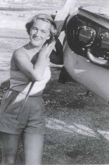 Elga Thouret war auch Segelfliegerin - genau wie Mutter Ilse