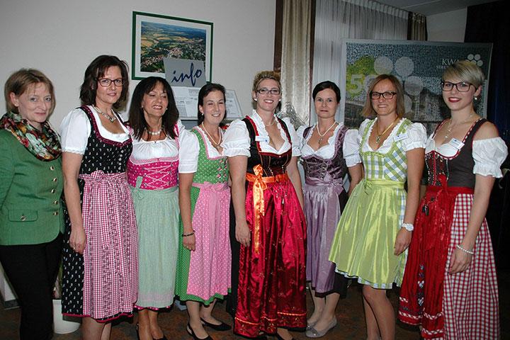 Servicekräfte bei der Jubiläumsfeier im KWA Stift Rottal