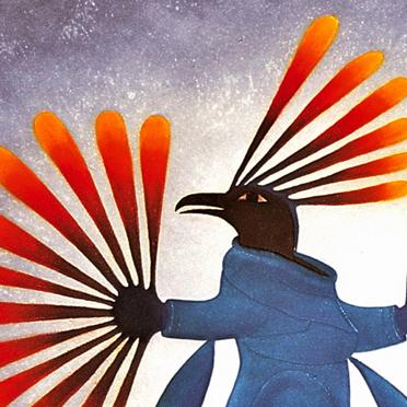 """Bild der Künstlerin Kenojuak """"Spirit of the Sun"""""""
