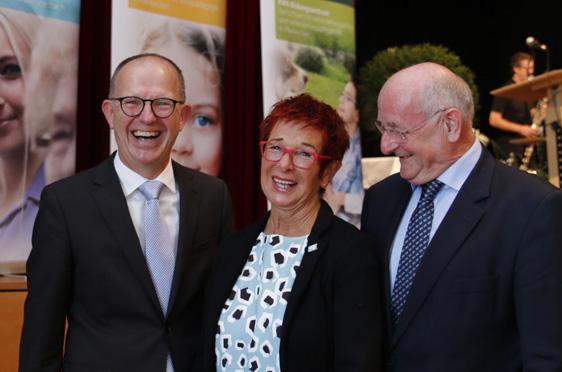 Von links: Dr. Stefan Arend (KWA Vorstand), Reserl Sem (Landtagsabgeordnete), Georg Riedl (Koordinator European Campus)