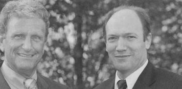 Vorstandsduo von Juli 2005 bis Februar 2008: Dr. Helmut Braun (Vorsitzender, links) und Horst Schmieder