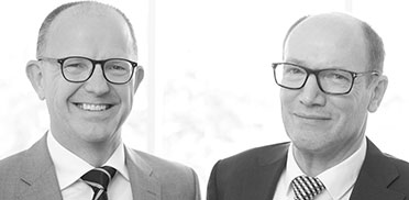 Der KWA Vorstand im Jubiläumsjahr 2016: Dr. Stefan Arend (links) und Horst Schmieder