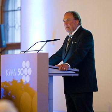 Auch der Vorsitzende des KWA Aufsichtsrats sprach ein Grußwort - Professor Dr. Manfred Matusza.