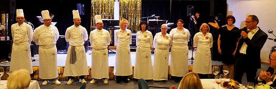 Gastronomie- und Serviceteam bei der 50-Jahre-KWA-Feier im KWA Albstift Aalen.